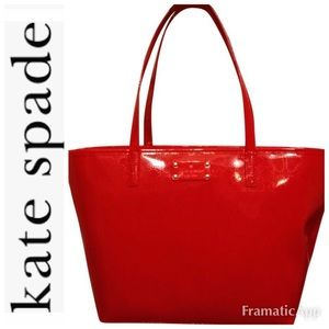 Kate Spade Red Heart Tote
